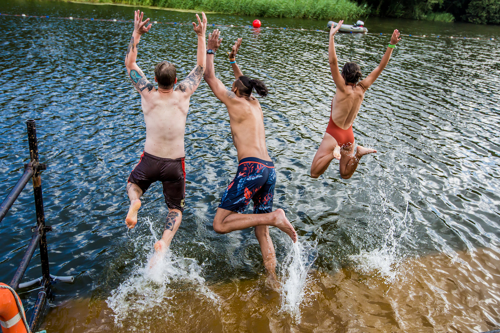Lake swimming - Latitude Festival