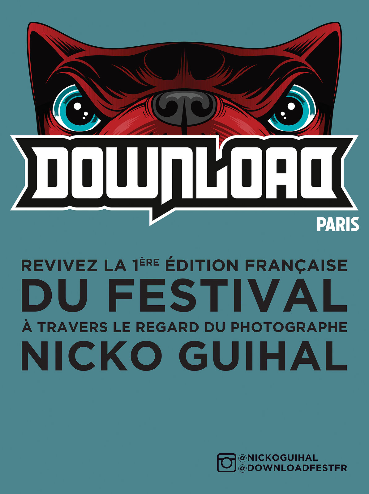 Affiche exposition Download Festival 2017