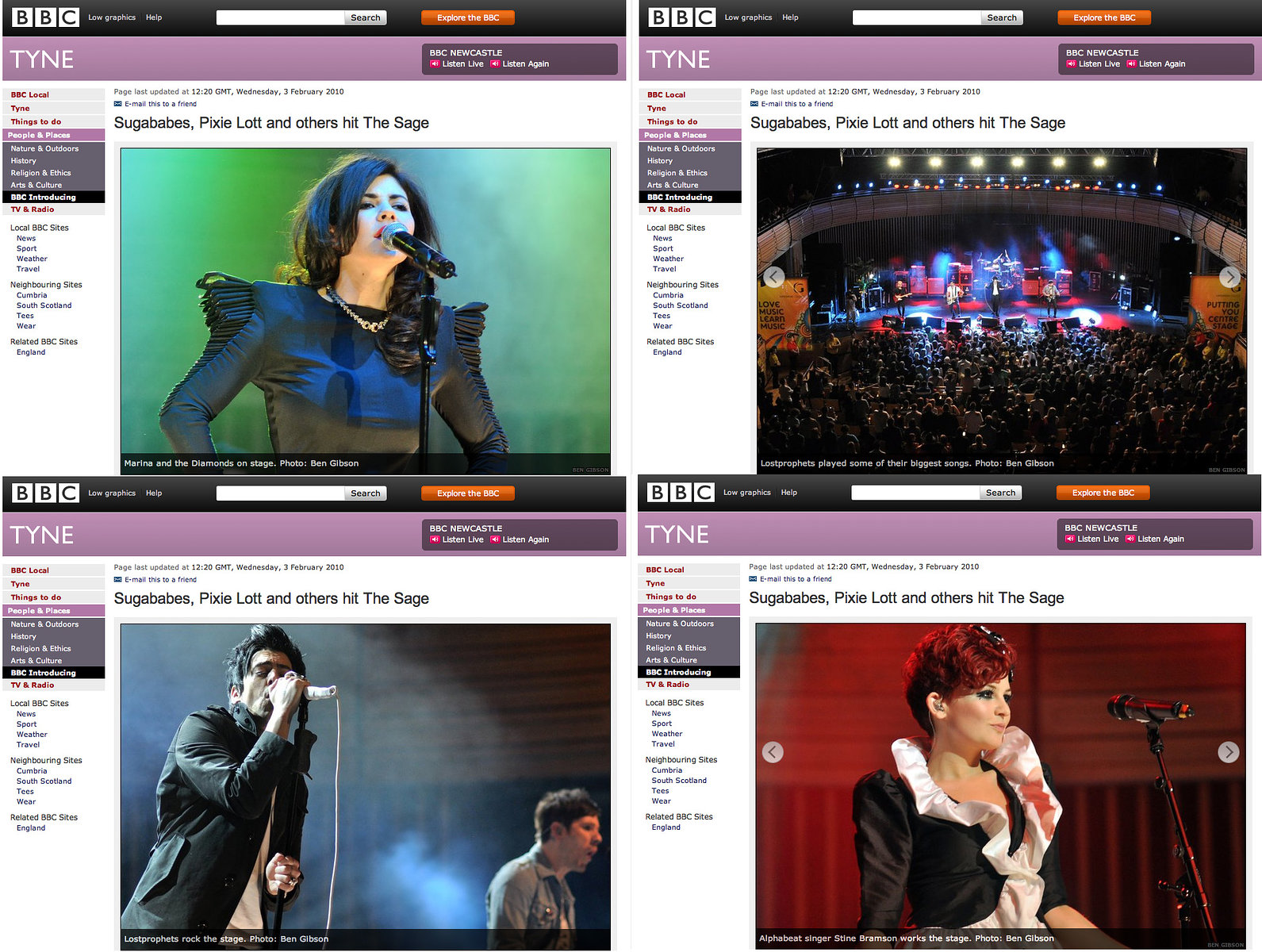 InsideOut Festival // BBC Tyne website 2010