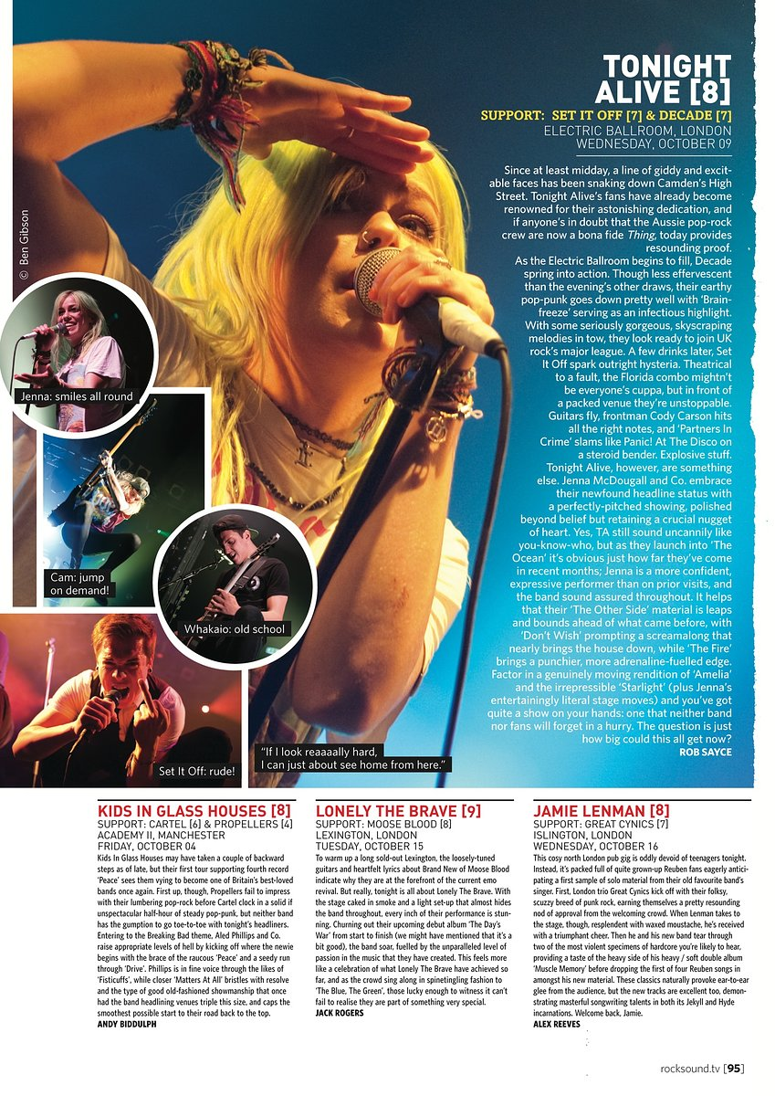 Tonight Alive // Rock Sound, December 2013