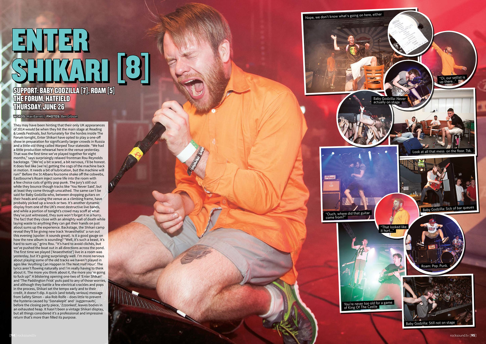 Enter Shikari // Rock Sound, Summer 2014