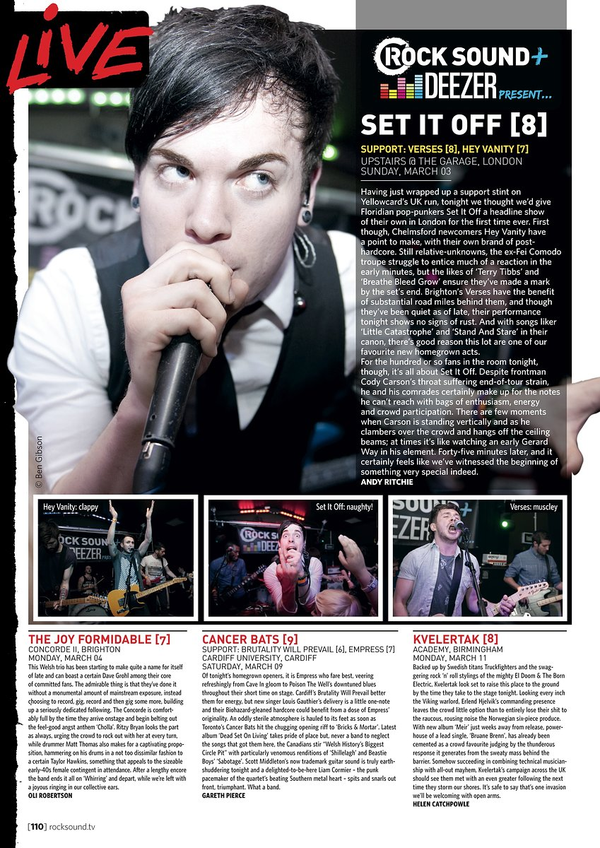 Set It Off // Rock Sound, May 2013
