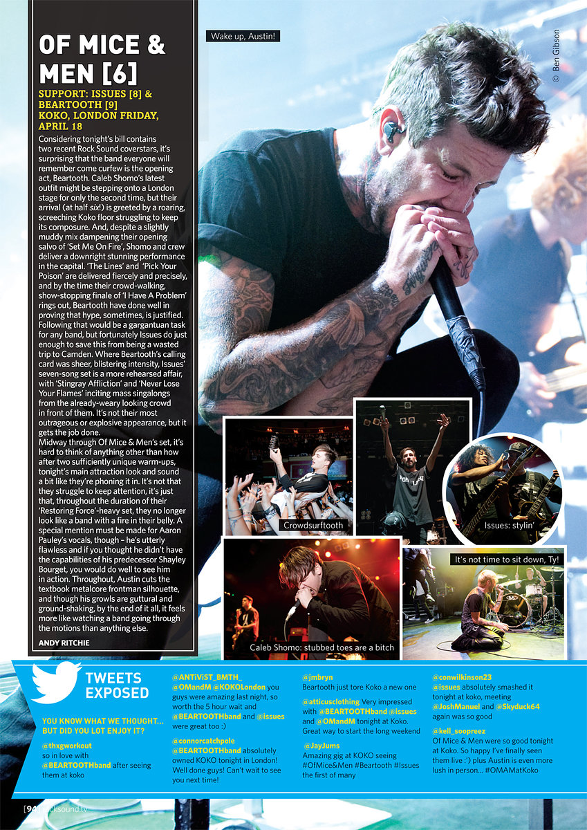Of Mice and Men // Rock Sound May 2014