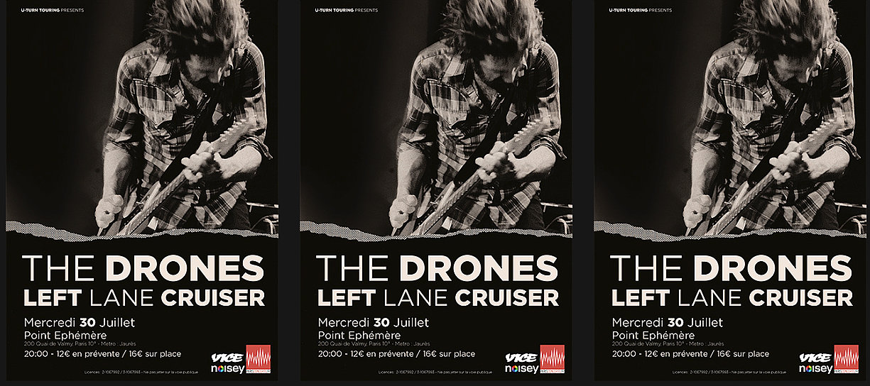 The Drones - Euro Tour Poster