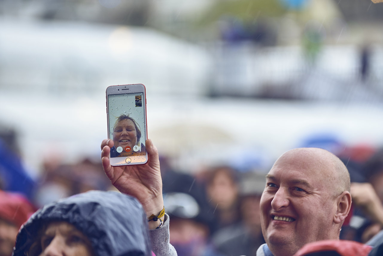 Facetiming in the Crowd