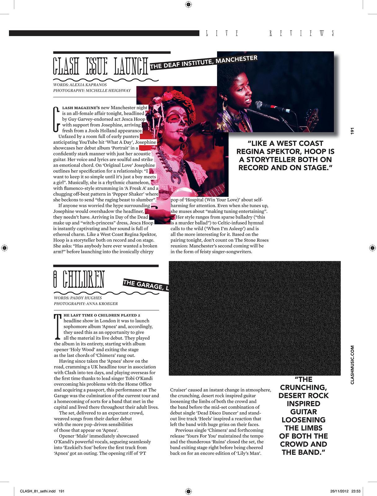 Clash Magazine Issue Launch