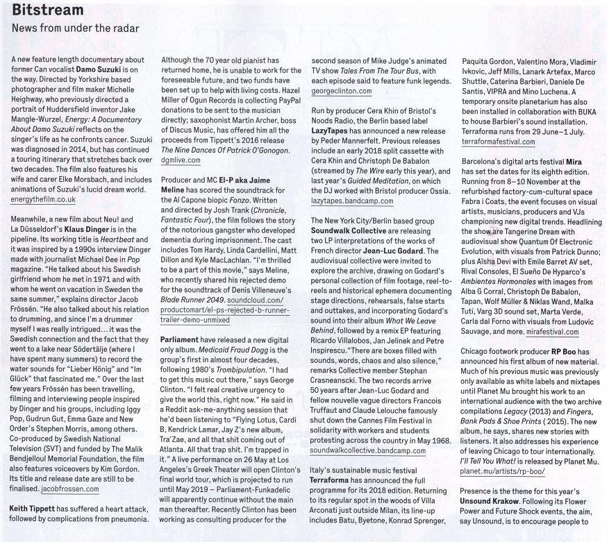 Energy:  A Documentary About Damo Suzuki  - Wire Magazine
