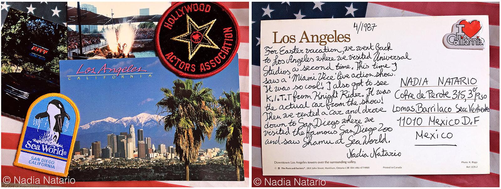 Postcards to Myself - Los Angeles, U.S.A, 1987