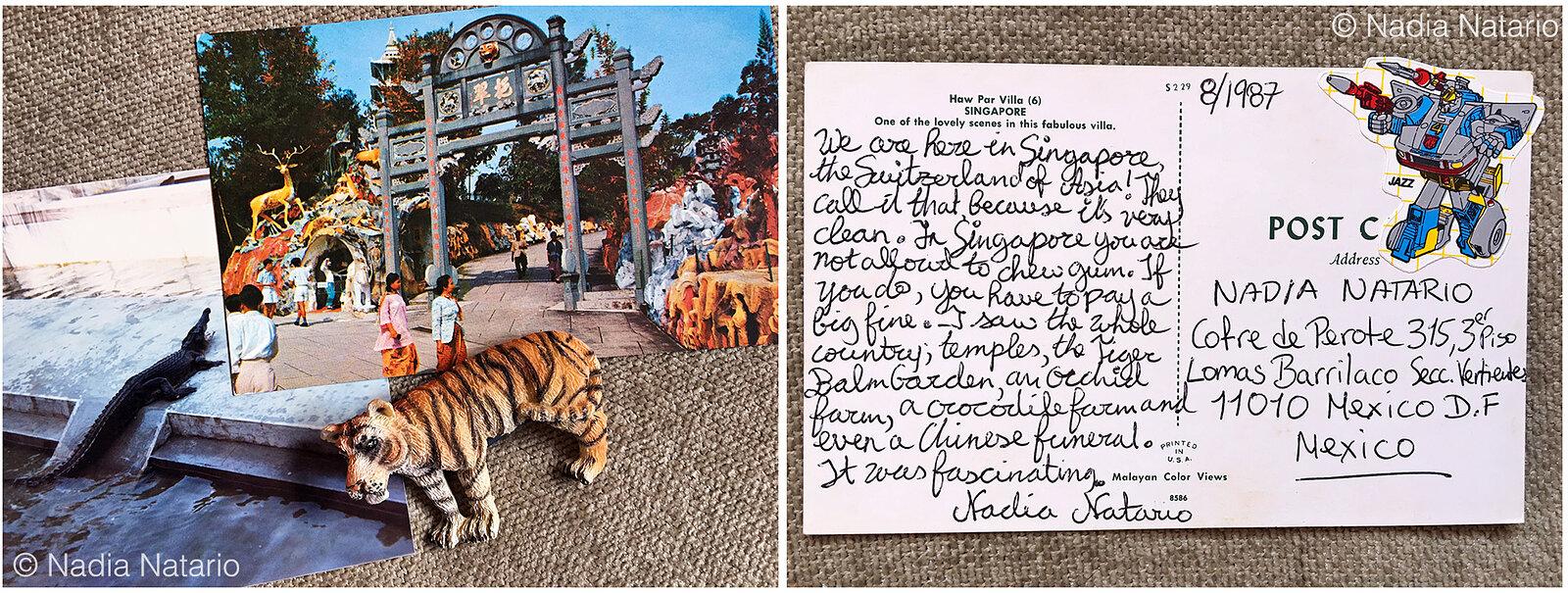 Postcards to Myself - Singapore, 1987