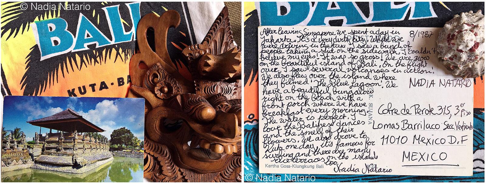 Postcards to Myself - Bali, 1987