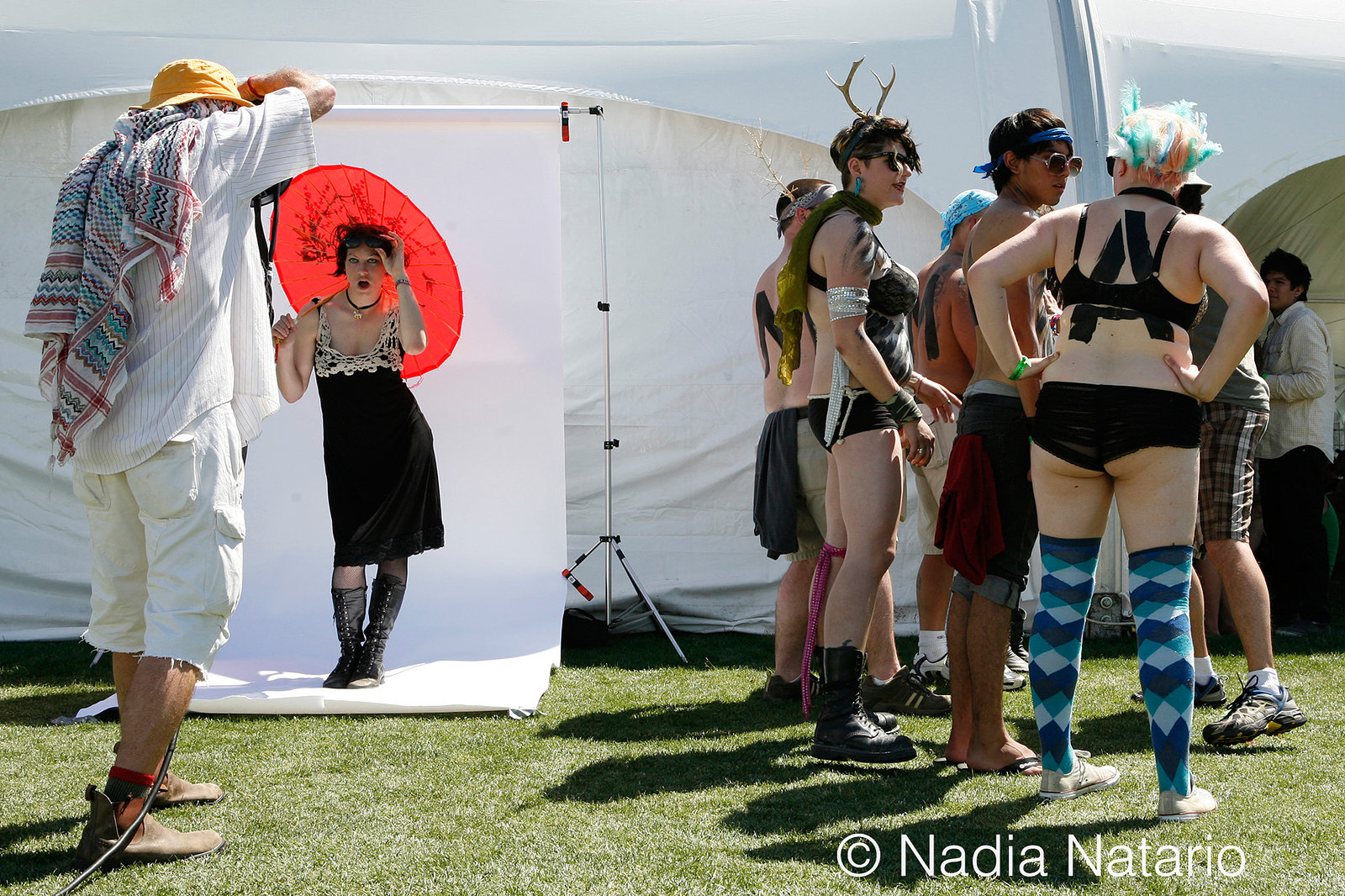 Behind The Scenes of Amanda Palmer LA Times Photo Shoot at Coachella 2009