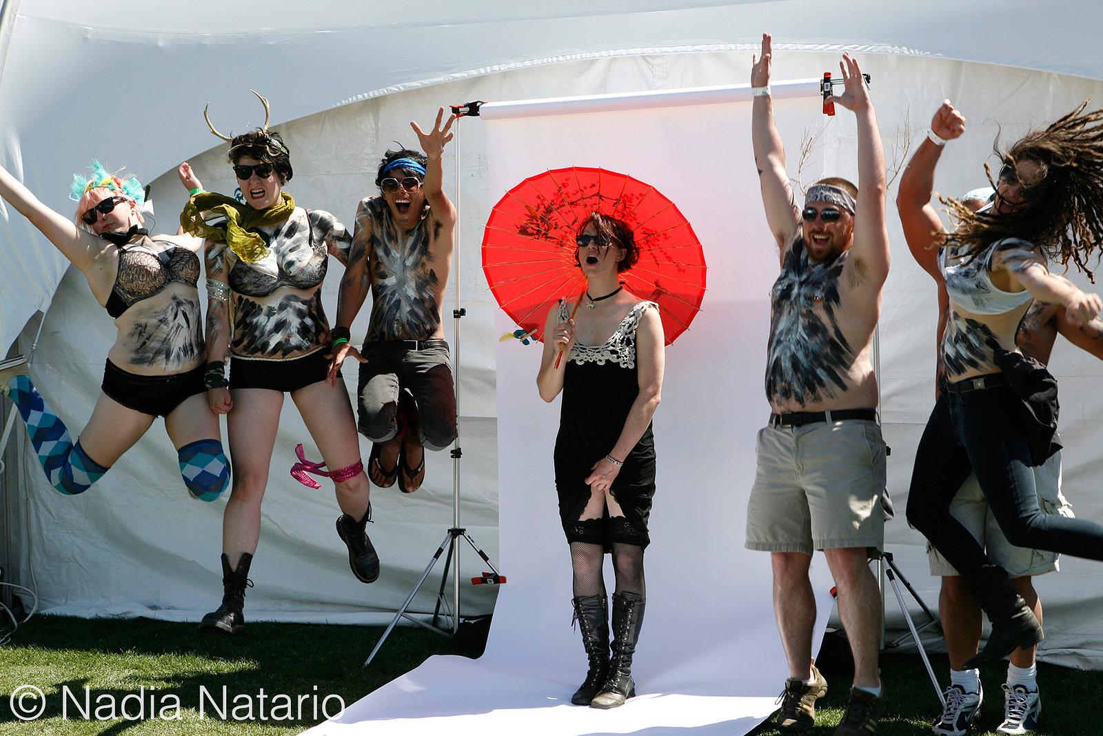 Behind The Scenes of Amanda Palmer LA Times Photo Shoot at Coachella 2009