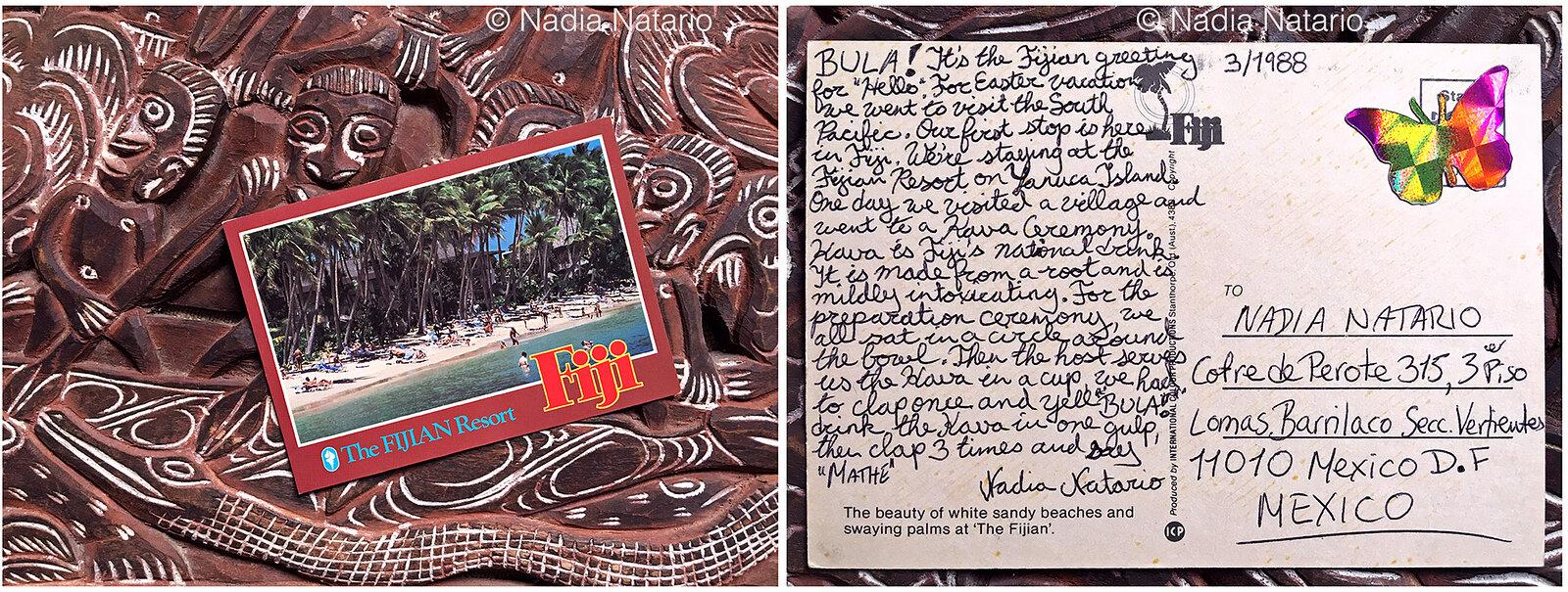 Postcards to Myself - Fiji, 1988