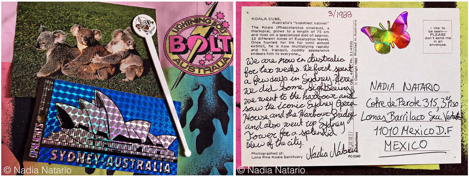 Postcards to Myself - Sydney, Australia, 1988