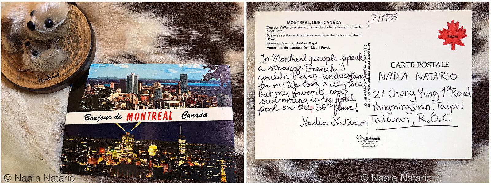 Postcards to Myself - Montréal, Canada, 1985