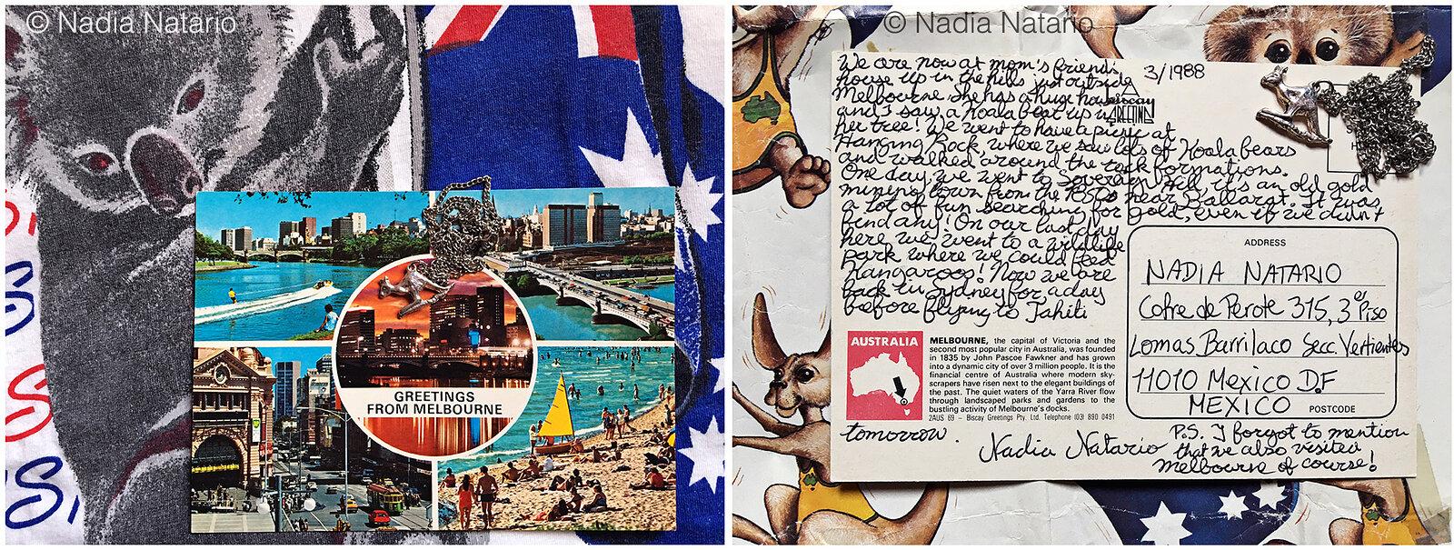 Postcards to Myself - Melbourne, Australia, 1988