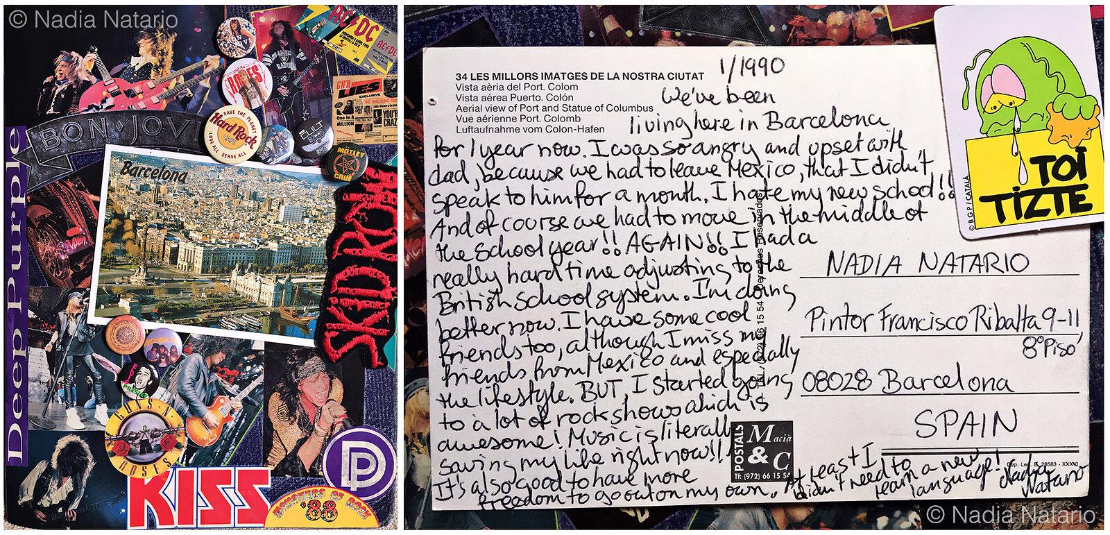 Postcards to Myself - Barcelona, Spain, 1990