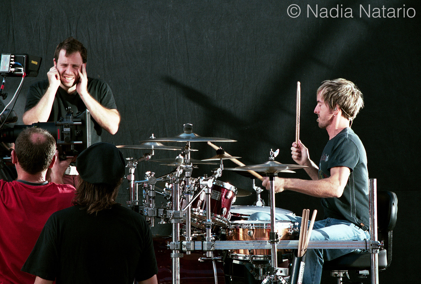On the set of Hoobastank video shoot 'Disappear', Barcelona 2004