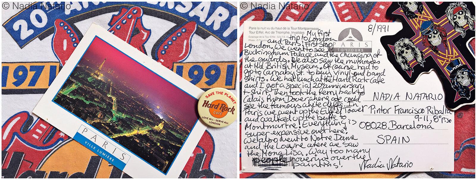 Postcards to Myself - Paris, France, 1991
