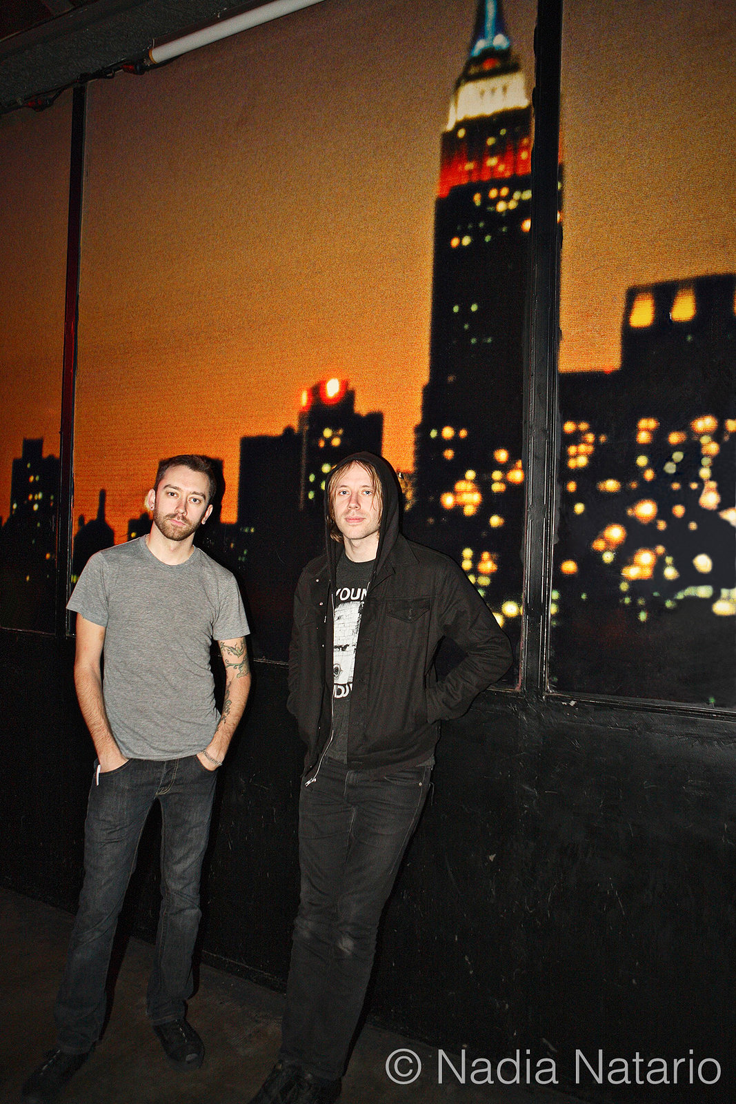 Tim Mcllrath of Rise Against and Geoff Rickly of Thursday