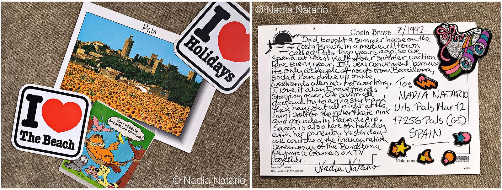 Postcards to Myself - Pals, Spain, 1992