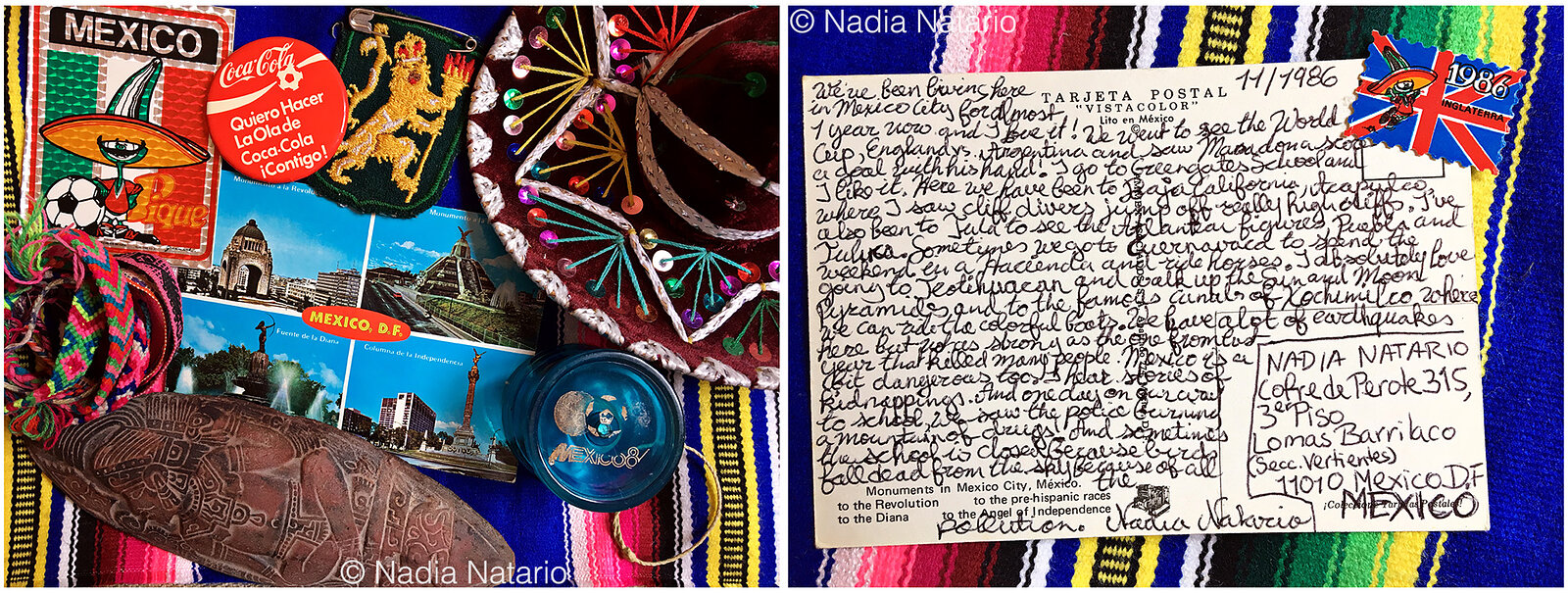 Postcards to Myself - Mexico, D.F, Mexico 1986