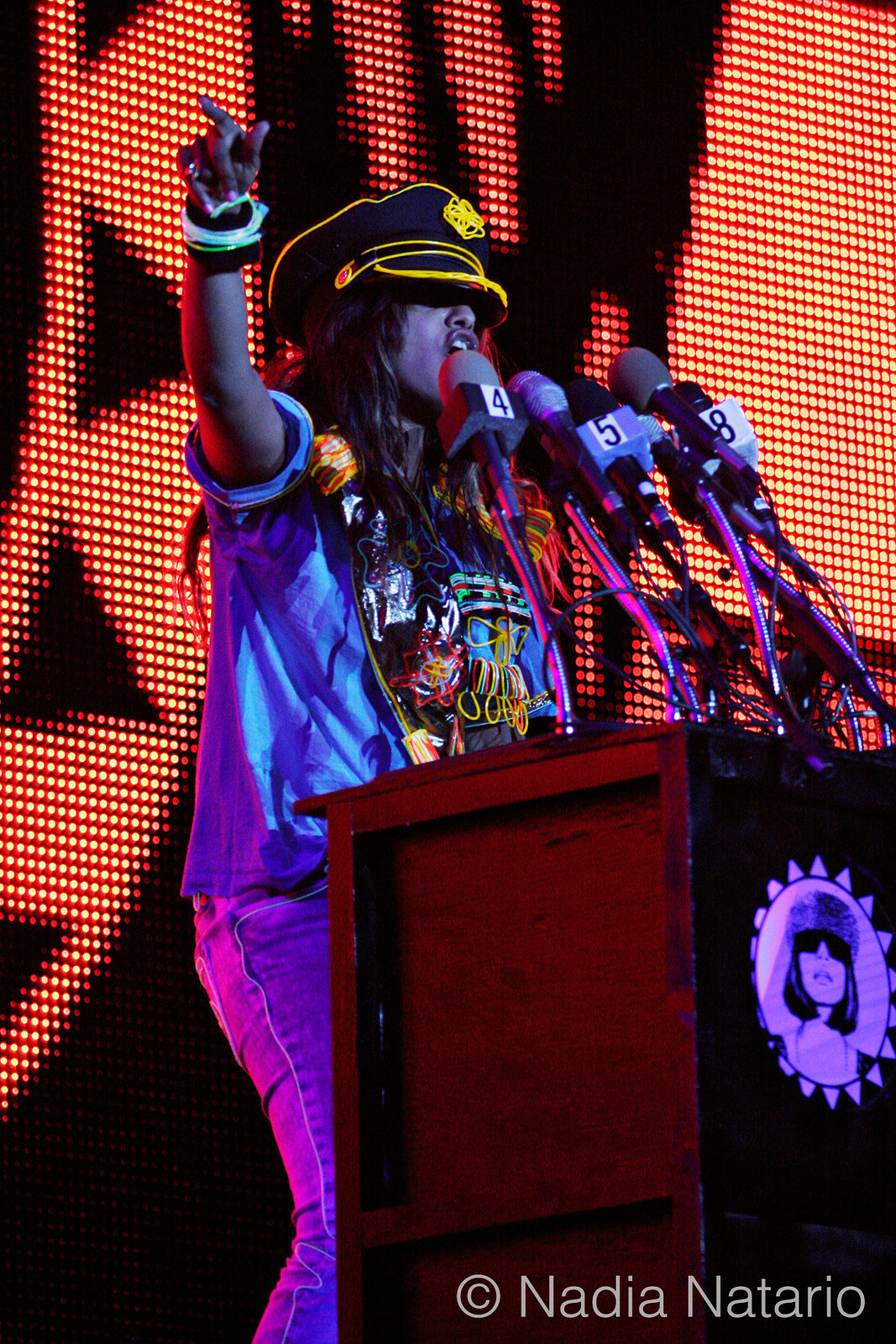 M.I.A at Coachella 2009