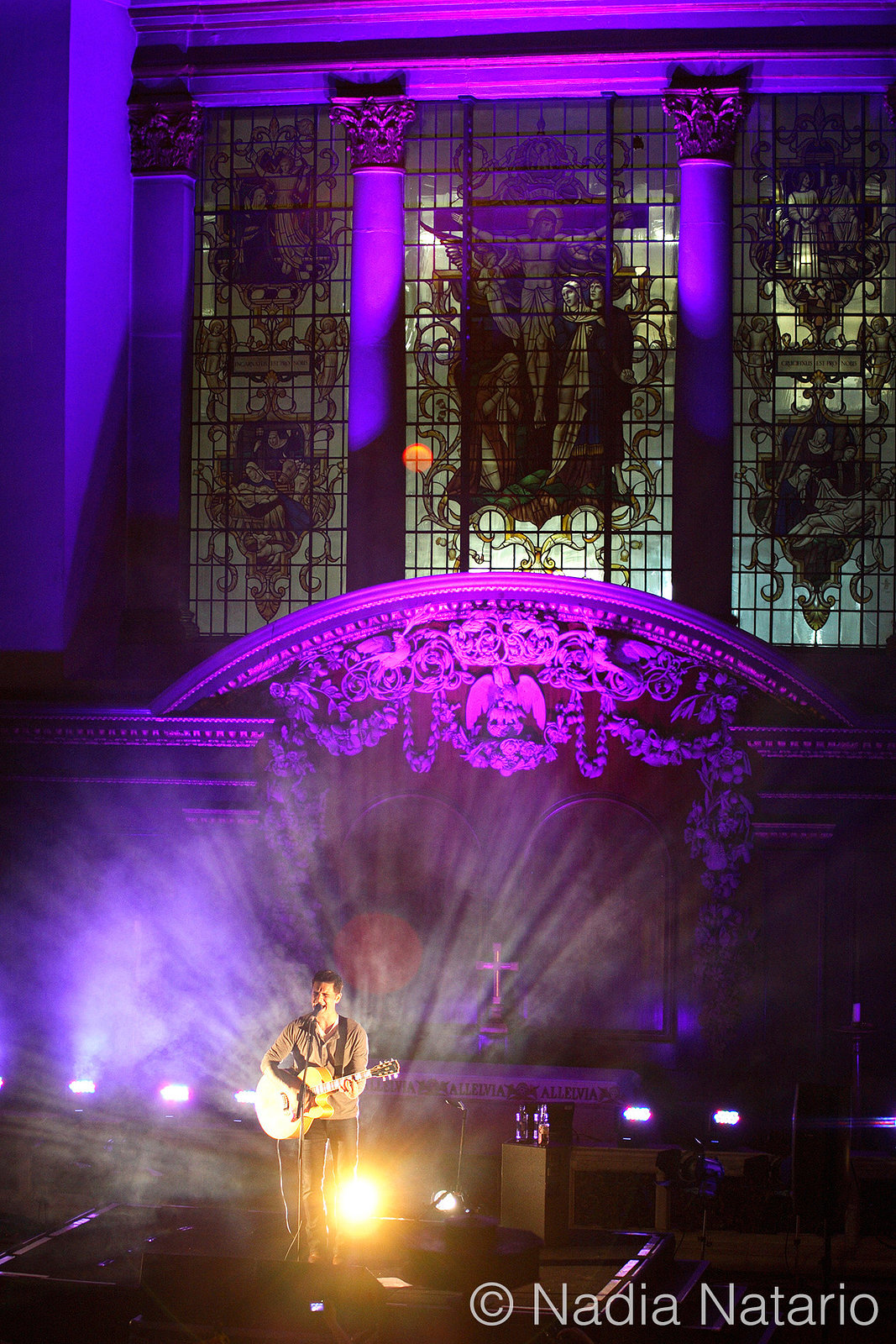 Dashboard Confessional solo at St. James Church