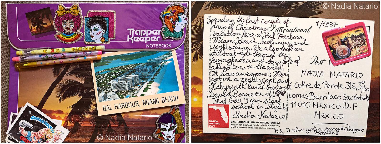 Postcards to Myself - Miami, U.S.A, 1987