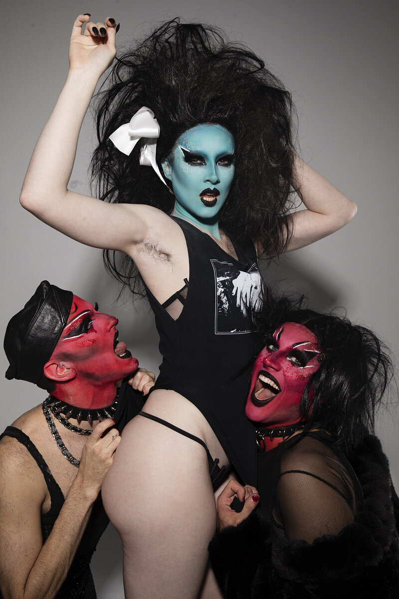 Stoya as Kembra Fowler with Hans & Ava