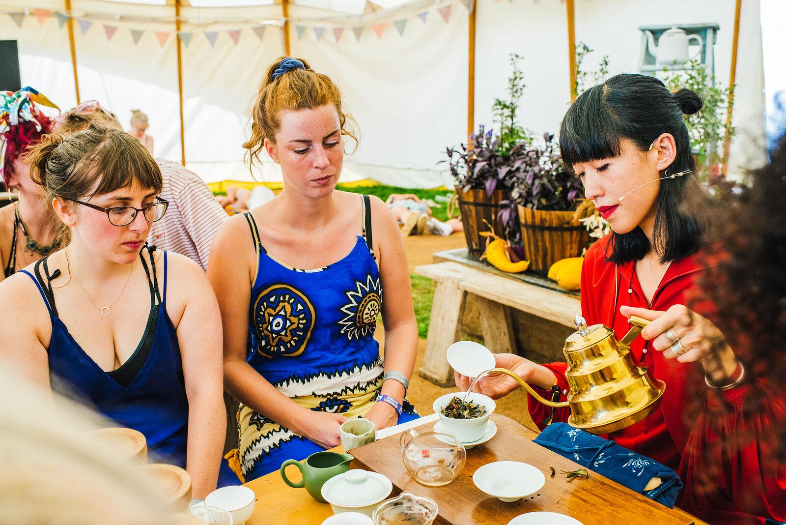Tea Ceremony with Grass People Tree