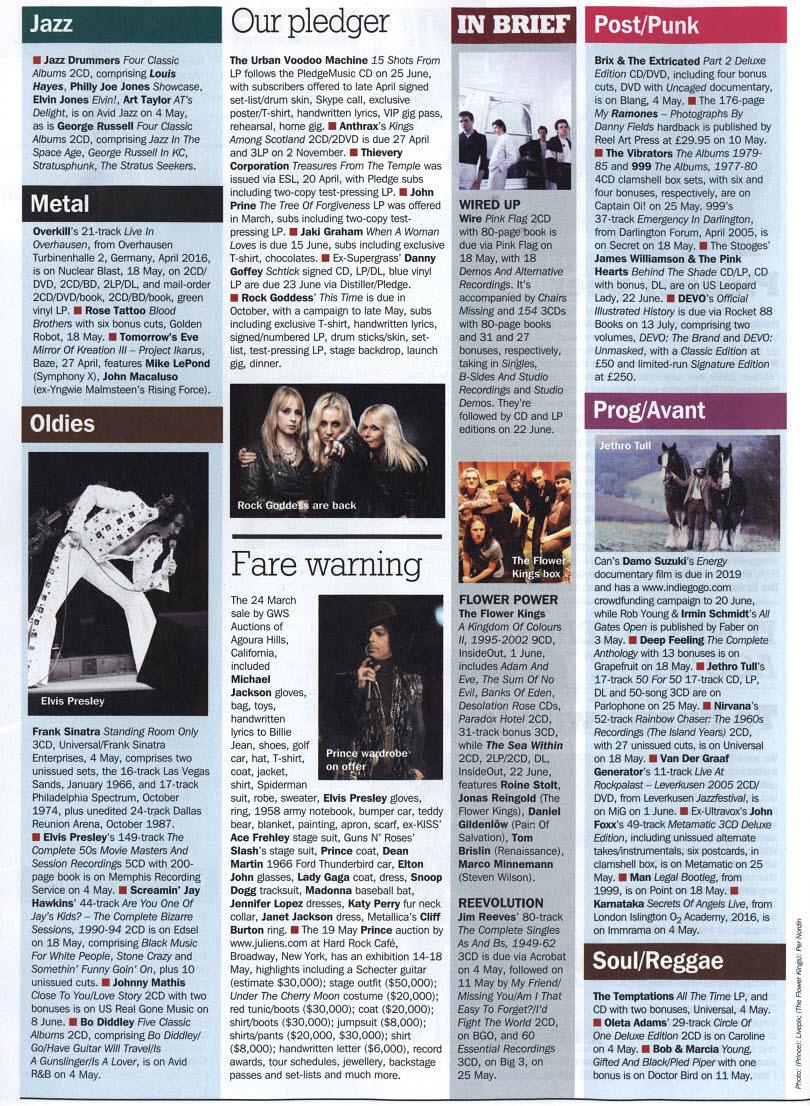 Energy - Record Collector Magazine - April '18