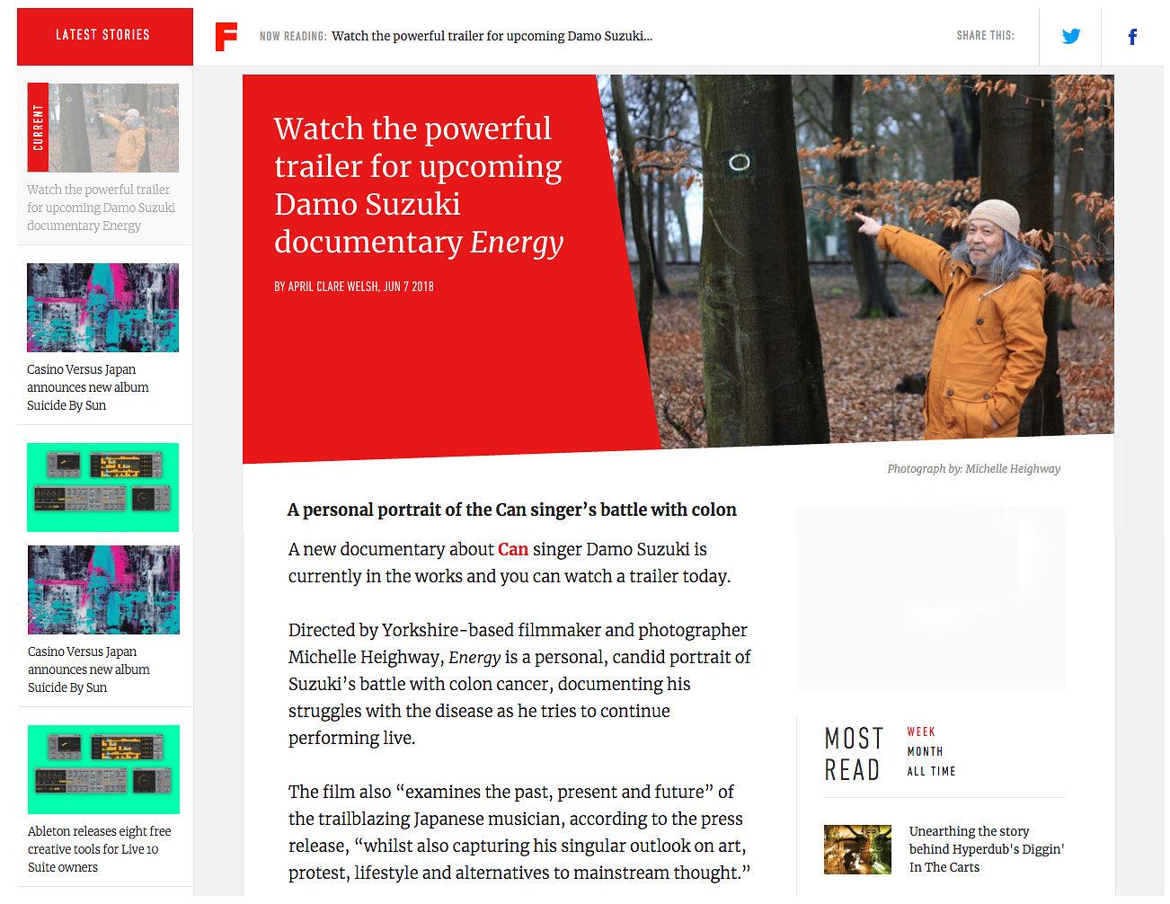 Fact Magazine - Crowdfunding /Press 2018