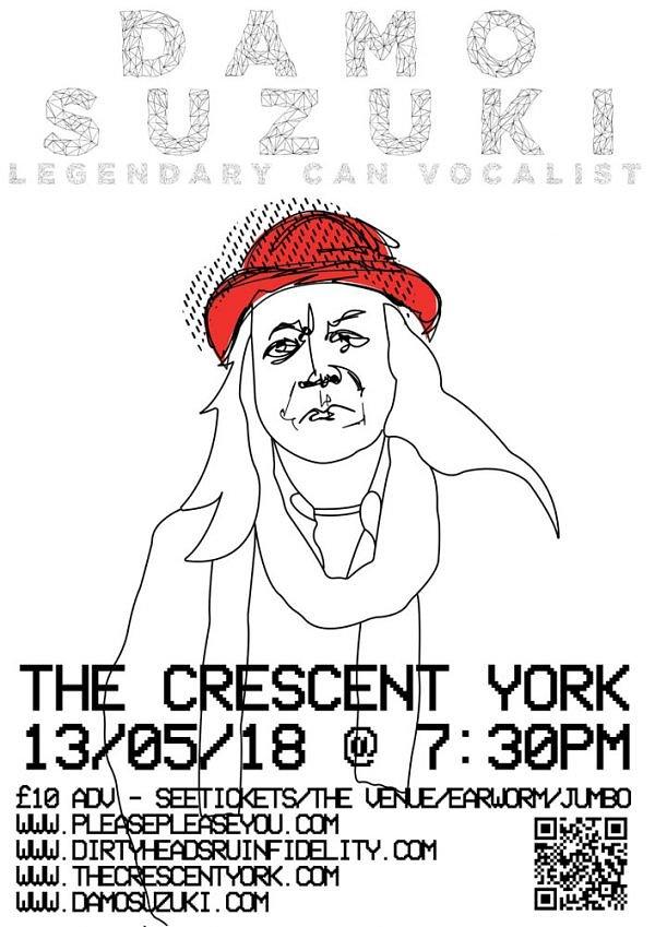 Damo Suzuki  Live 13 May 2018 @ THE CRESENT, YORK