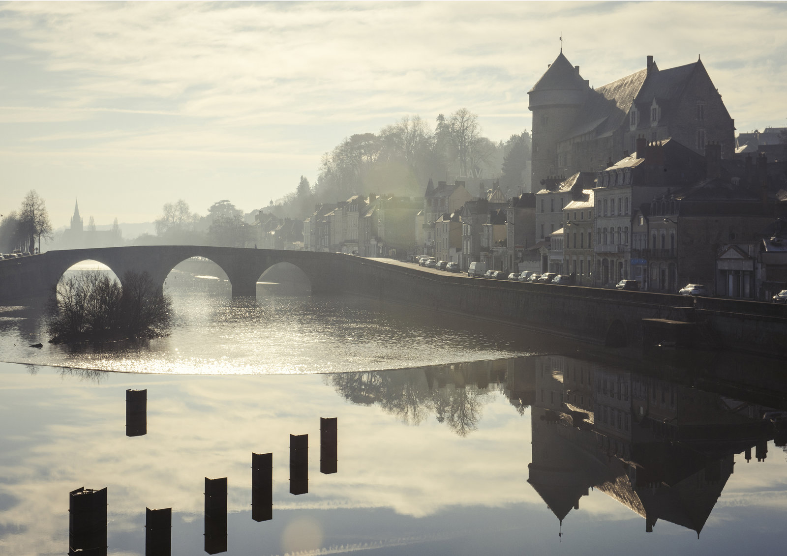 Laval Castle and the Mayenne